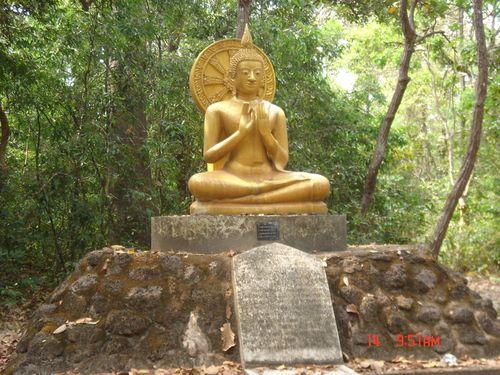 Buddha spreading the Dhamma