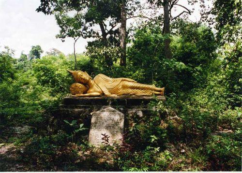 Buddha entering Nirvana