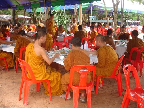 Monks feasting