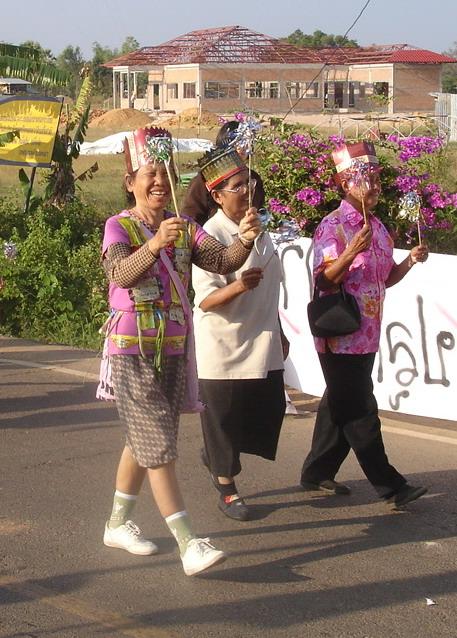 Thai women on parade