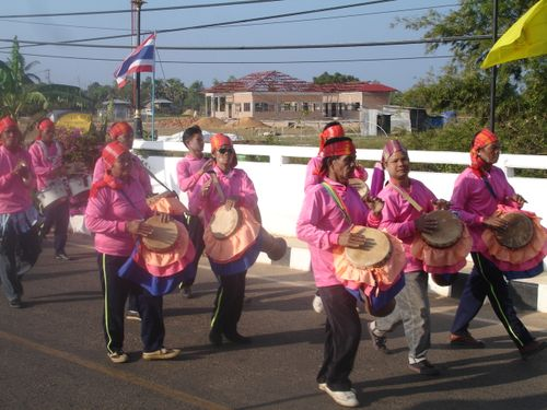 Thai marching band in Phana