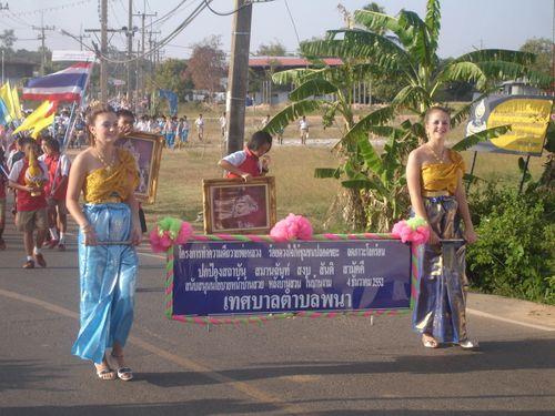 Beautiful girls leading the parade
