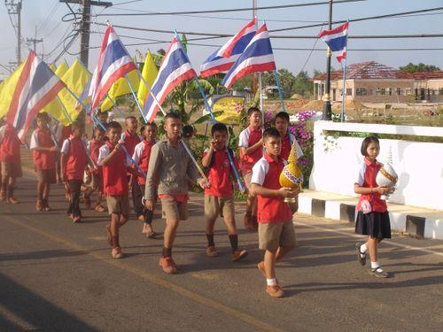 School kids on parade
