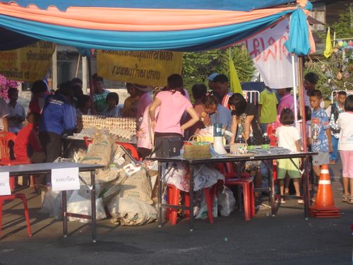 Waste recycling stall