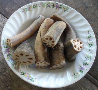 Edible lotus roots